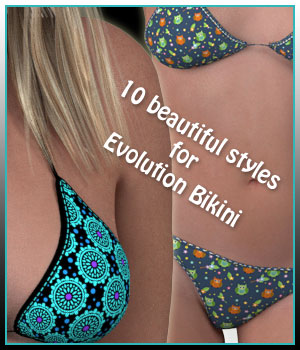 Bikini Expansion for Project Evolution 3D Figure Assets karanta