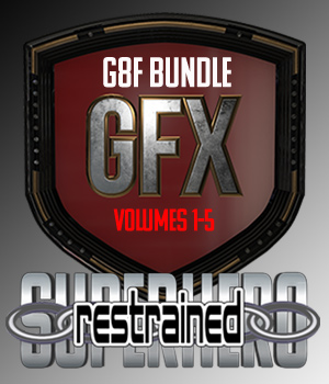 SuperHero Restrained Bundle for G8F 3D Figure Assets GriffinFX