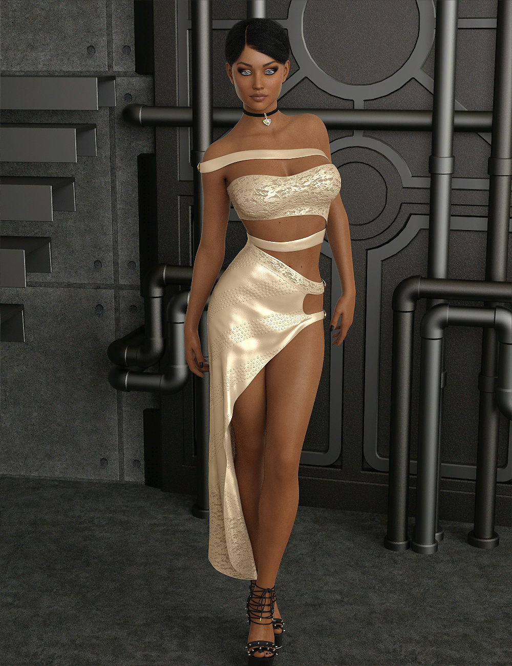 InStyle - dForce-Voguish Dress for Genesis 8 Female by -Valkyrie-