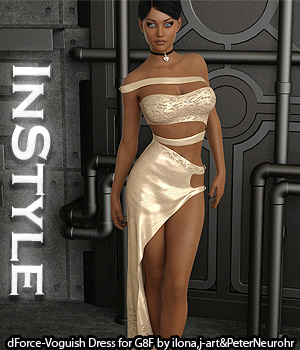 InStyle - dForce-Voguish Dress for Genesis 8 Female 3D Figure Assets -Valkyrie-