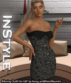 InStyle - Alluring Outfit for Genesis 8 Female 3D Figure Assets -Valkyrie-