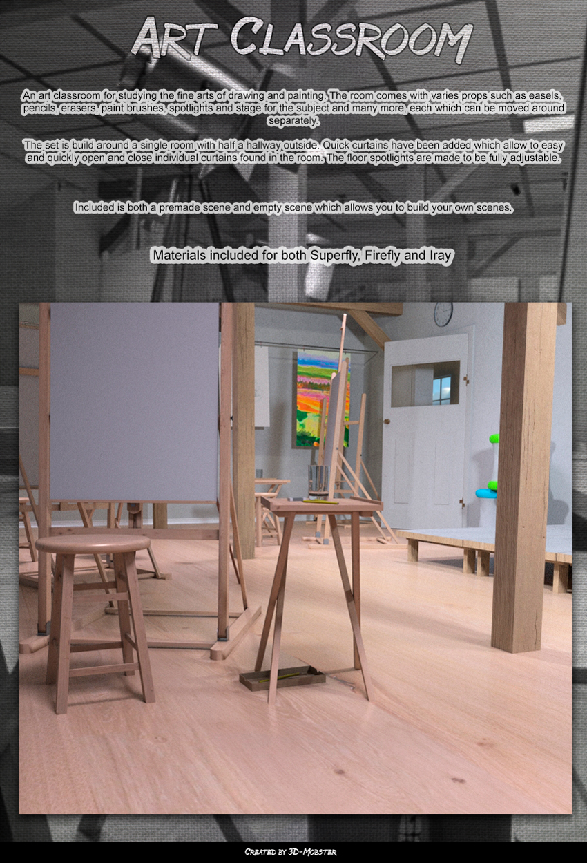 Art classroom by 3D-Mobster