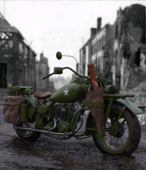 WWII Hero Motorcycle 3D Models paulbrake