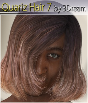 Quariz Hair 7 3D Figure Assets 3Dream