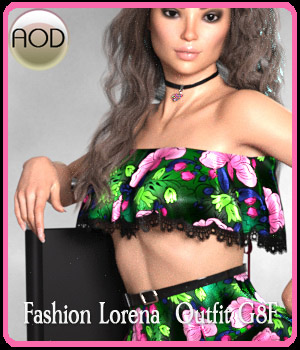 Fashion Lorena Outfit G8F 3D Figure Assets ArtOfDreams