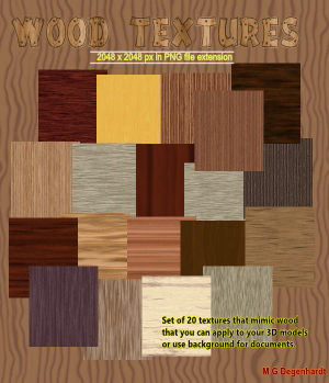 Wood Textures 2D Graphics mgdegenhardt
