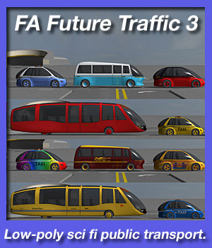 FA Future Traffic 3: Public Transport 3D Models fireangel