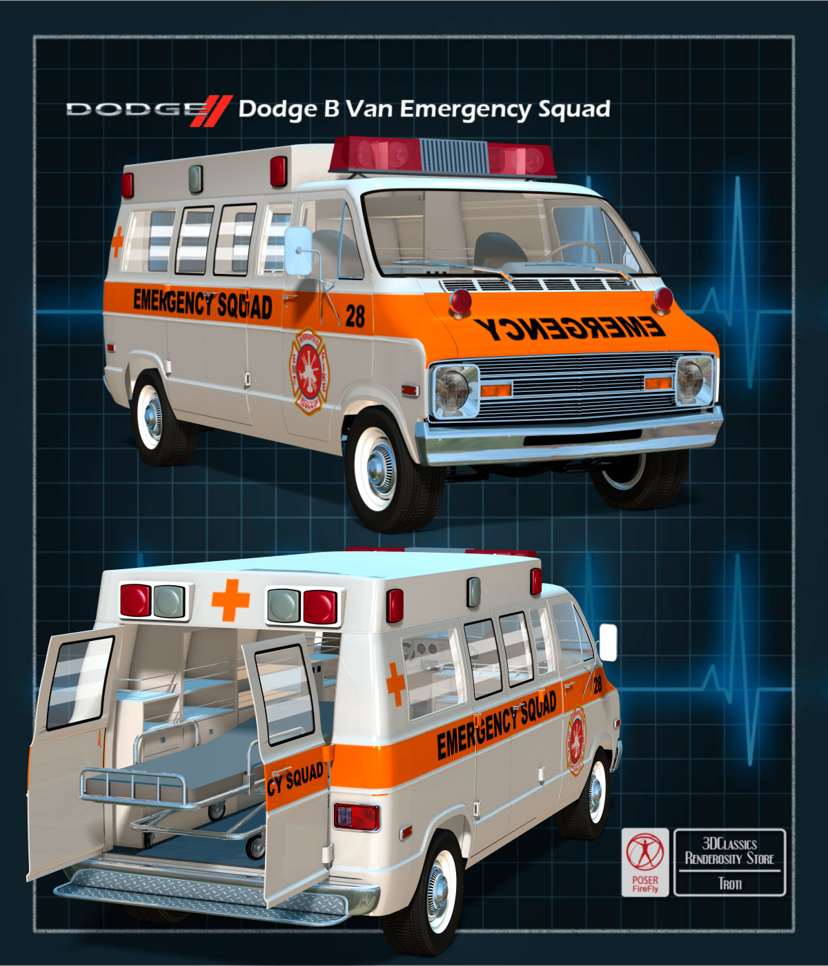 DODGE B VAN AMBULANCE by 3DClassics