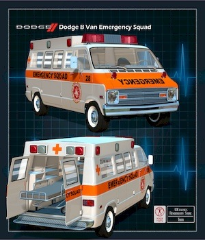 DODGE B VAN AMBULANCE 3D Models 3DClassics