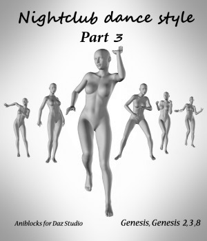 Nightclub dance style Part 3  by LifeMotion 3D Figure Assets LifeMotion