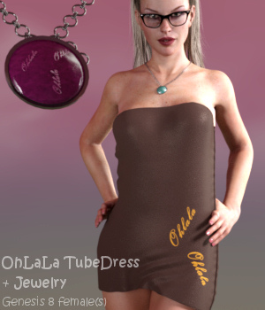 OhLaLa TubeDress G8F - dForce 3D Figure Assets Karth