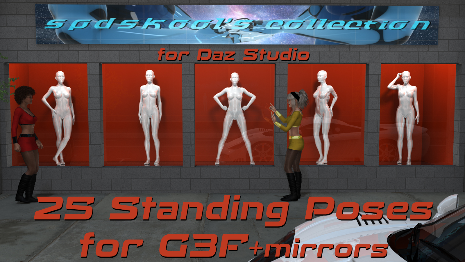 25 Standing Poses for GF3 by spdskool