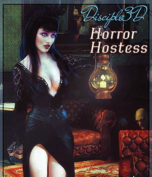 Horror Hostess 3D Figure Assets Disciple3d