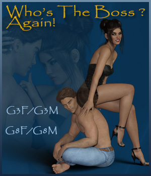 Who's The Boss Again ? - G3F-G3M - G8F-G8M 3D Figure Assets ilona
