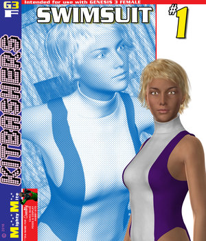 Swimsuit 001 MMKBG3F 3D Figure Assets MightyMite