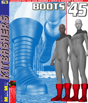 Boots 045 MMKBG3 3D Figure Assets MightyMite