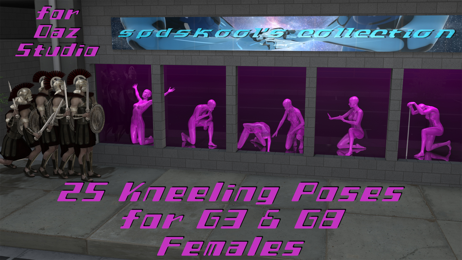25 Kneeling Poses for G3 and G8 Females by spdskool