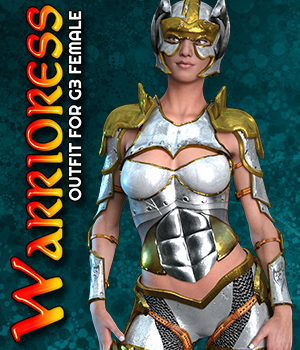 Exnem Warrioress for G3 Female 3D Figure Assets exnem