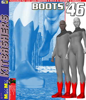 Boots 046 MMKBG3 3D Figure Assets MightyMite