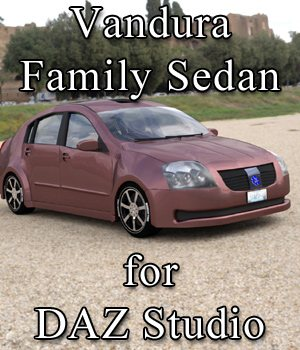 Vandura Family Sedan (for DAZ Studio) 3D Models VanishingPoint