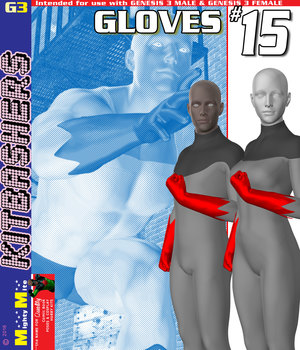 Gloves 015 MMKBG3 3D Figure Assets MightyMite