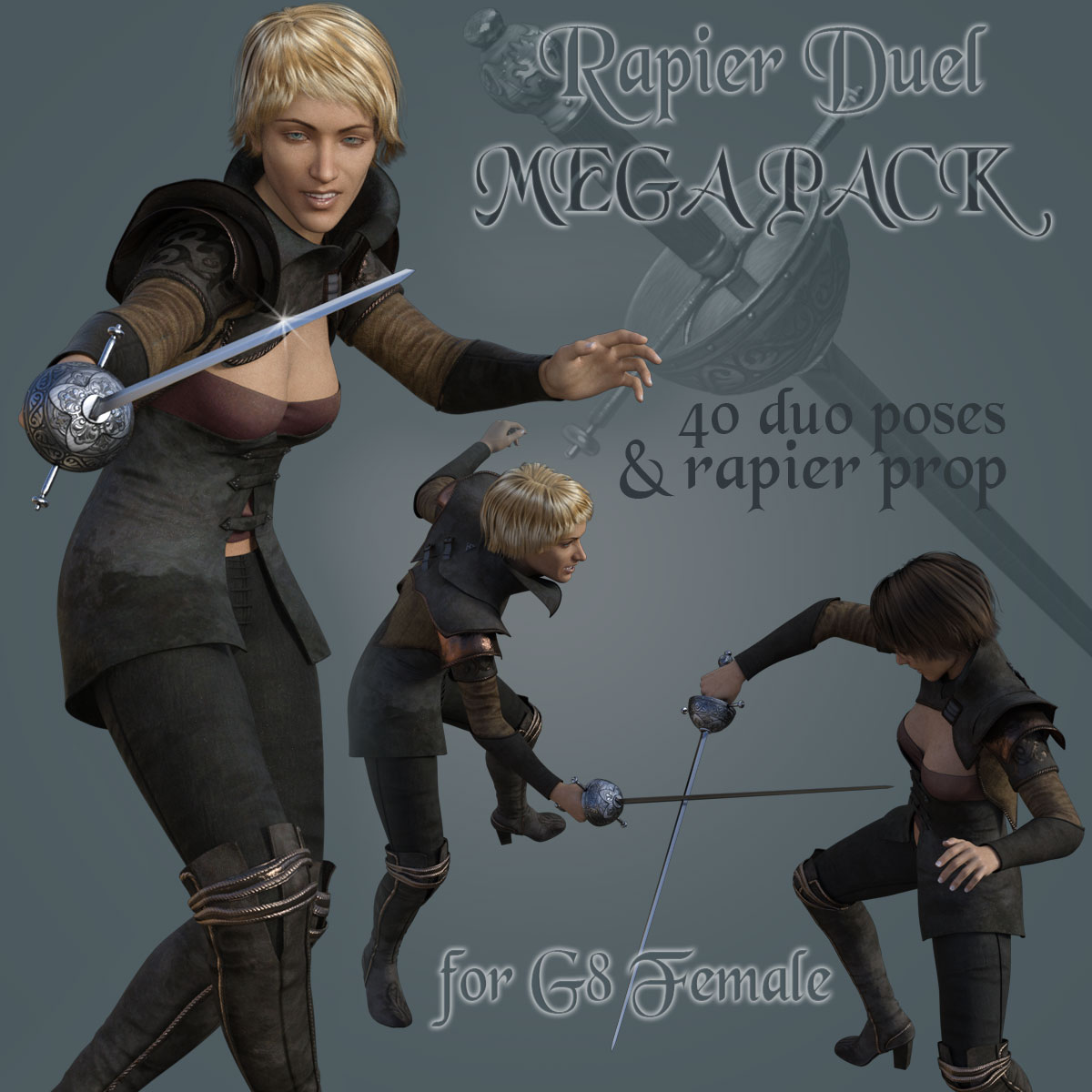 RAPIER DUEL MEGAPACK for Genesis 8 Female by PainMD