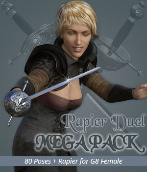 RAPIER DUEL MEGAPACK for Genesis 8 Female 3D Figure Assets 3D Models PainMD