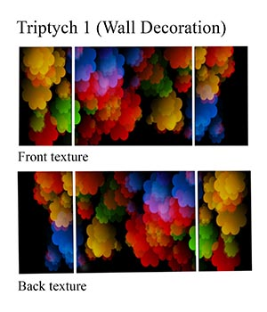 Triptych 1 - Wall Decoration FBX 3D Models markcruz