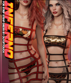 Inferno Strip Strap Dress G8F 3D Figure Assets Sveva