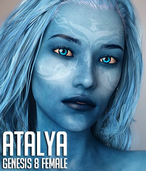 Atalya for Genesis 8 Females 3D Figure Assets Xile3D