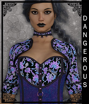 Dangerous for Deadly Night Shade 3D Figure Assets sandra_bonello