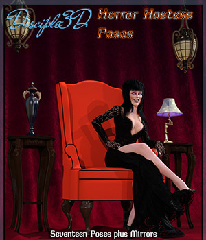 Horror Hostess Poses 3D Figure Assets Disciple3d