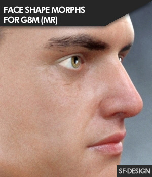 Face Shape Morphs MR for Genesis 8 Male 3D Figure Assets Merchant Resources SF-Design