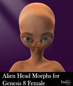 Alien Head Morphs for G8F 3D Figure Assets biala