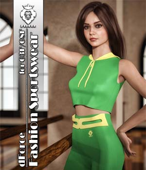 JMR dForce Fashion Sportswear for G3F and G8F 3D Figure Assets JaMaRe