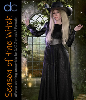 DC-Season Of The Witch for DAZ G8 Female 3D Figure Assets Deecey