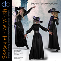 DC-Season Of The Witch for DAZ G8 Female image 2