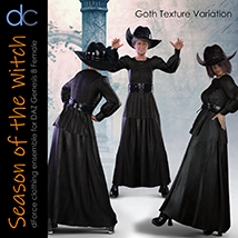 DC-Season Of The Witch for DAZ G8 Female image 3