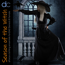 DC-Season Of The Witch for DAZ G8 Female image 5