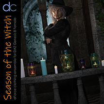 DC-Season Of The Witch for DAZ G8 Female image 6