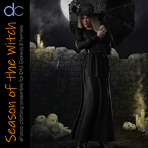 DC-Season Of The Witch for DAZ G8 Female image 7