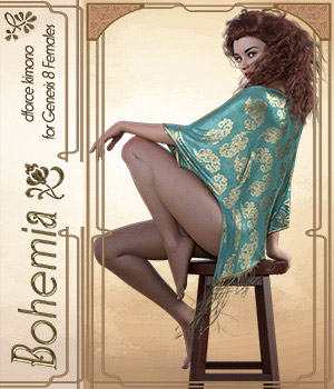 Bohemia - dForce kimono for Genesis 8 Female(s) 3D Figure Assets ArtTailor