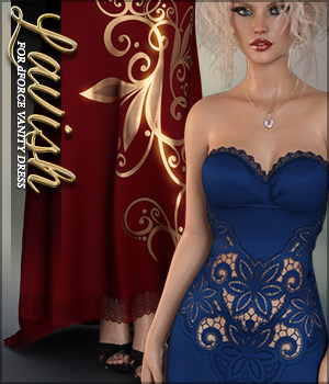 Lavish for dForce Vanity Dress G8F 3D Figure Assets Sveva