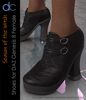 DC-Season Of the Witch Shoes for G8Female 3D Figure Assets Deecey