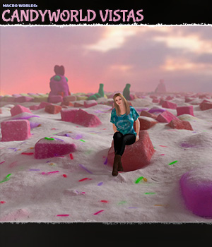 Macro Worlds: Candyworld Vistas 3D Models ShaaraMuse3D