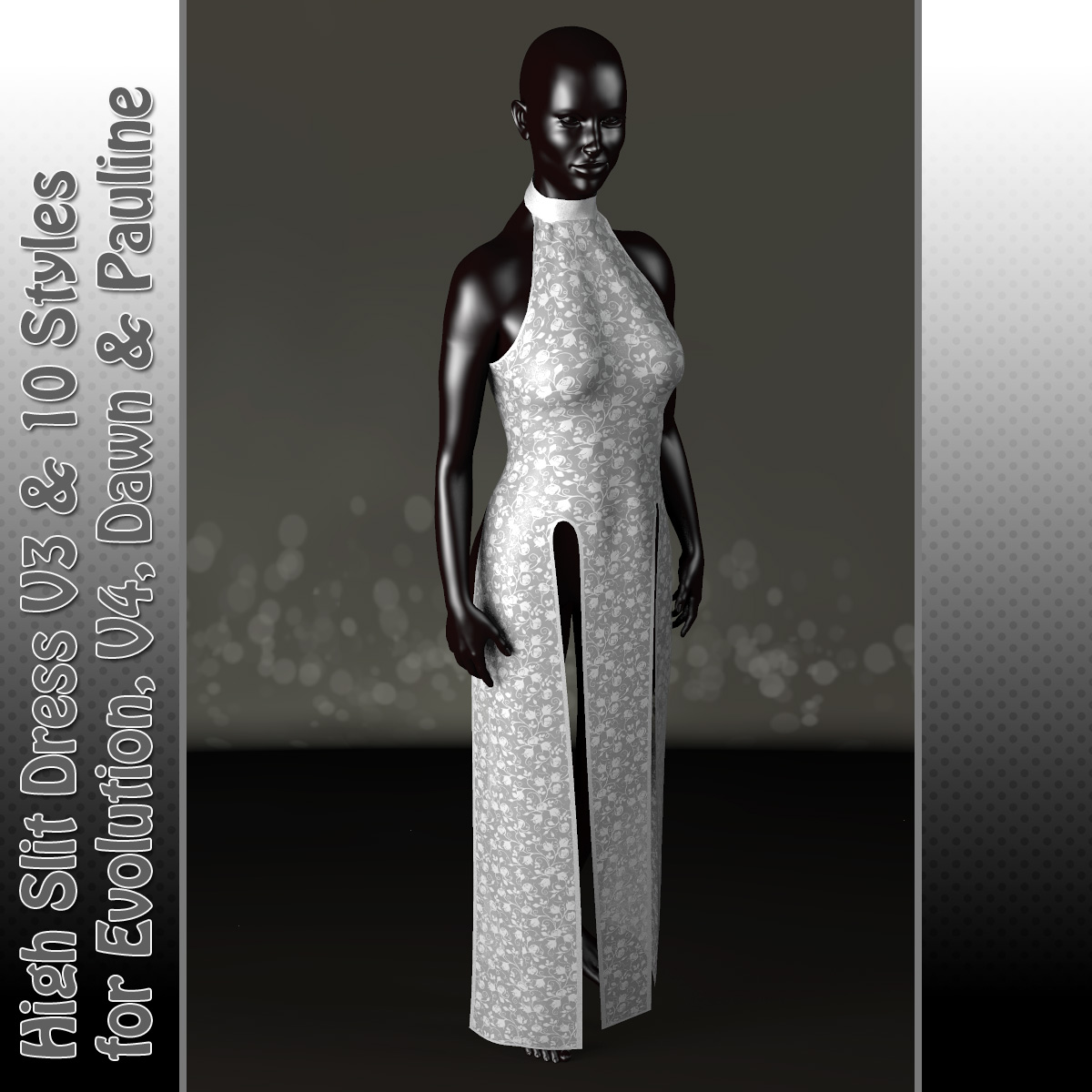 High Slit Dress Version 3 and 10 Styles for PE, V4, Dawn and Pauline