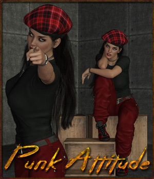 Punk Attitude - Poses for G3F-G8F-V7 3D Figure Assets ilona