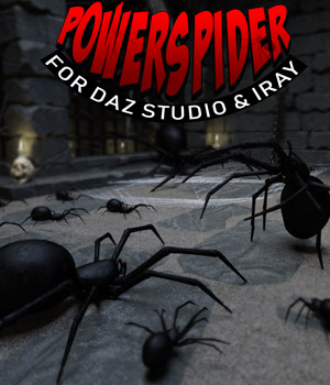 Power Spider for DS Iray 3D Models powerage