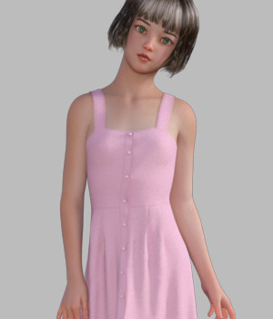 dForce Summer Dress 1 for Genesis 8 Female 3D Figure Assets gaodan