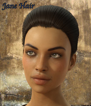 Jane Hair for G3/G8 Daz 3D Figure Assets RPublishing